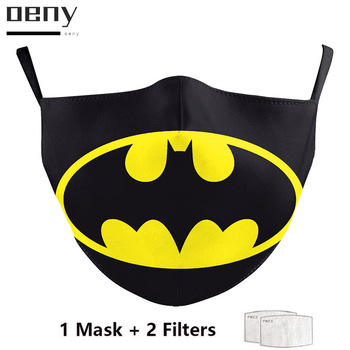 The Superhero Batman Masks Adult Women Men Dust-proof Fabric Mask Halloween Party Cosplay Costume Pollution Washable Face Pad the batman bruce wayne latex mask superhero movie cosplay costume halloween party masks