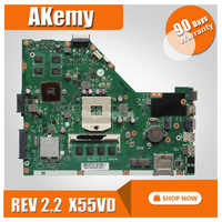 X55VD MB._4G/ AS GeForce GT610M 4GB RAM mainboard REV 2.2 For ASUS X55V X55VD X55C laptop motherboard 100% Tested free shipping