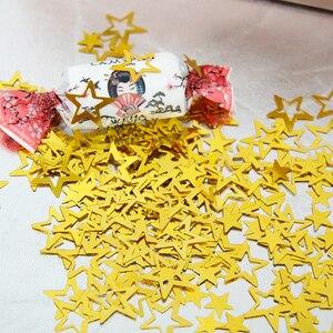Image 2 - 1000 قطعة/الحقيبة الذهب لامع الجوف نجوم Confettis لحفل زفاف الديكور لتقوم بها بنفسك عيد ميلاد زينة تزيين في العطلة البلاستيكية المورد