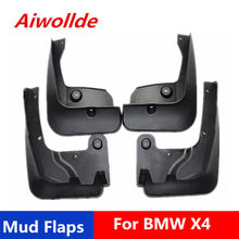 Car Mudflaps For BMW X4 2015-2019 Splash Guards Mud Flap Mudguards Fender(China)