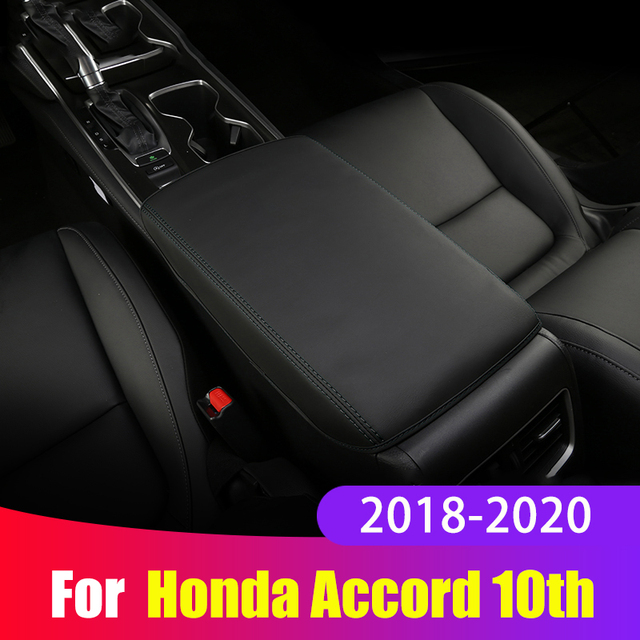 For Honda Accord 10th 2018 2019 2020 Armrest Console Pad Cover Cushion Support Box Armrest Top Mat Liner Car Styling Accessories