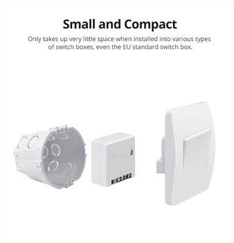 SONOFF-enchufe inteligente eWeLink MINIR2, interruptor inteligente bidireccional, CA 100-240V, funciona con Google Home y Alexa 2