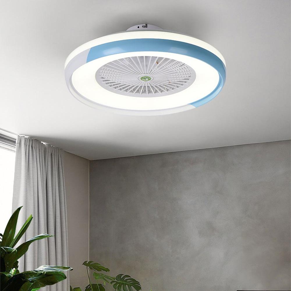 2019 Led Ceiling Fan Stepless Dimming Adjustable Wind Speed Remote Control Modern Led Ceiling Light For Bedroom Living Room Leather Bag