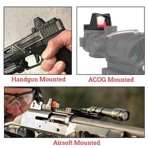 Image 2 - Mini RMR منظر نقطة حمراء نطاق جهاز الرؤية العاكس نطاق مع غلوك العالمي جبل Airsoft بندقية الصيد البصر البصري