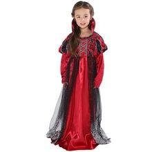 Костюм вампира для девочек костюм на Хэллоуин детей платье принцессы