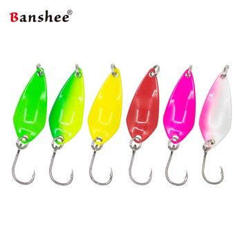 6Pcs/Lot 1g/1.5g/2.5g/3.5g New Fishing Metal Colorful Spoon Baits Spinner Lure Vib Mini Bait For Wobbler Trout Single Hook