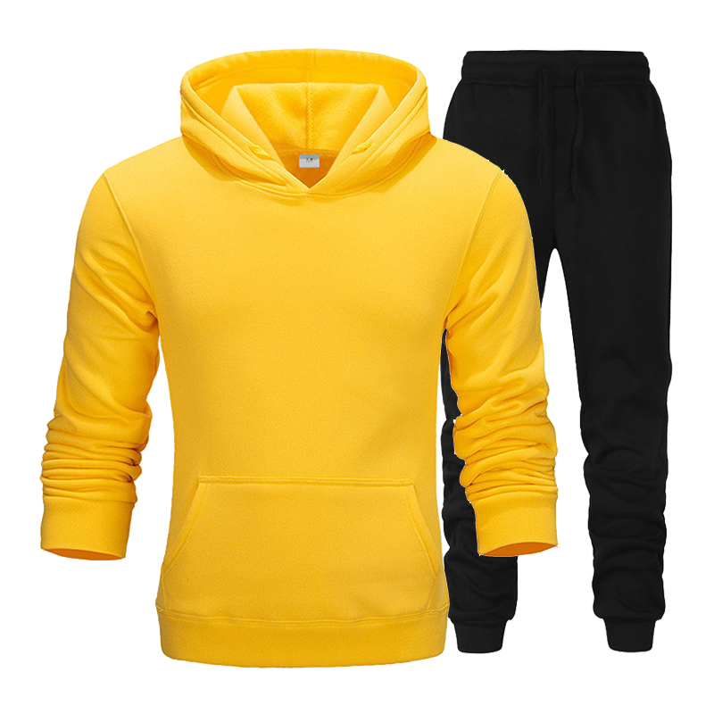 New Fashion Casual Hoodie Sportswear Men's Track And Field Clothing Hoodies Winter Brand Clothing Hoodies + Pants Men's Suit