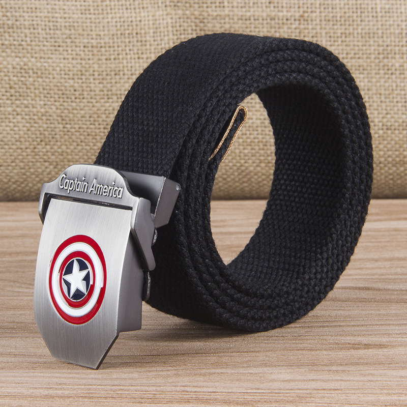 New Men & Women High Quality Belt 3D Captain America Canvas Military Belt Soviet Memory CCCP Luxury Jeans Tactical Belt T50(China)