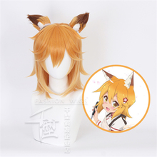 цена на Anime Sewayaki Kitsune no Senko-san Senko Cosplay Costume Wig Hair Lolita Gradient With A Pair Ears + Wig Cap