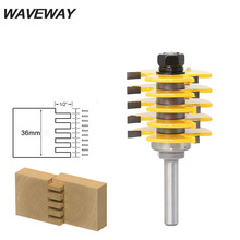 цена на WAVEWAY 8mm Shank Box Joint Router Bit - Adjustable 5 Blade - 3 Flute - 8 Shank For Wood Tenon Cutter for Woodworking Tools