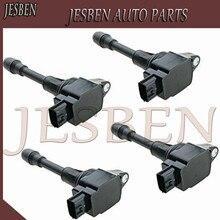 4 sztuk 22448 JA00C wysokiej jakości stacyjka cewki dla Nissan Altima słoneczny Rogue Sentra Versa Infiniti 2007 2015 AIC 2408N 22448 JA10C