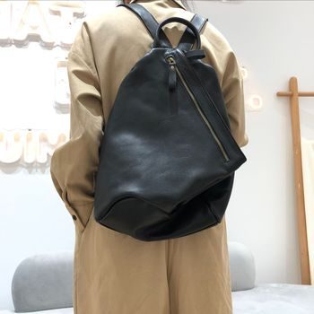 Anti-theft Backpack Women Natural Cowhide Leather Classic School Bags For Ladies Bagpack Real Leather Travel Daypacks Mochilas