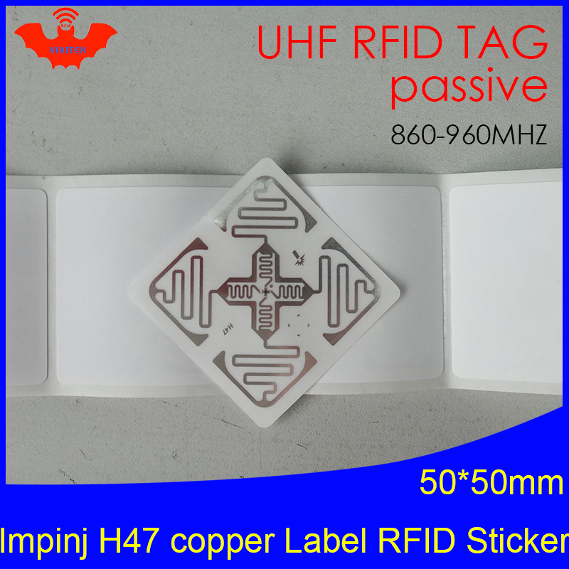 UHF RFID Tag Sticker Impinj H47 Printable Copper Label 915m 860-960MHZ Higgs3 EPCC1G2 6C Smart Adhesive Passive RFID Tags Label