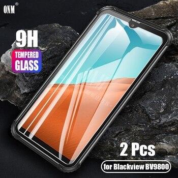 Перейти на Алиэкспресс и купить Blackview BV9800 2 шт закаленное стекло для Blackview BV9800 защита экрана 2 закаленное стекло Blackview BV9800 защитная пленка