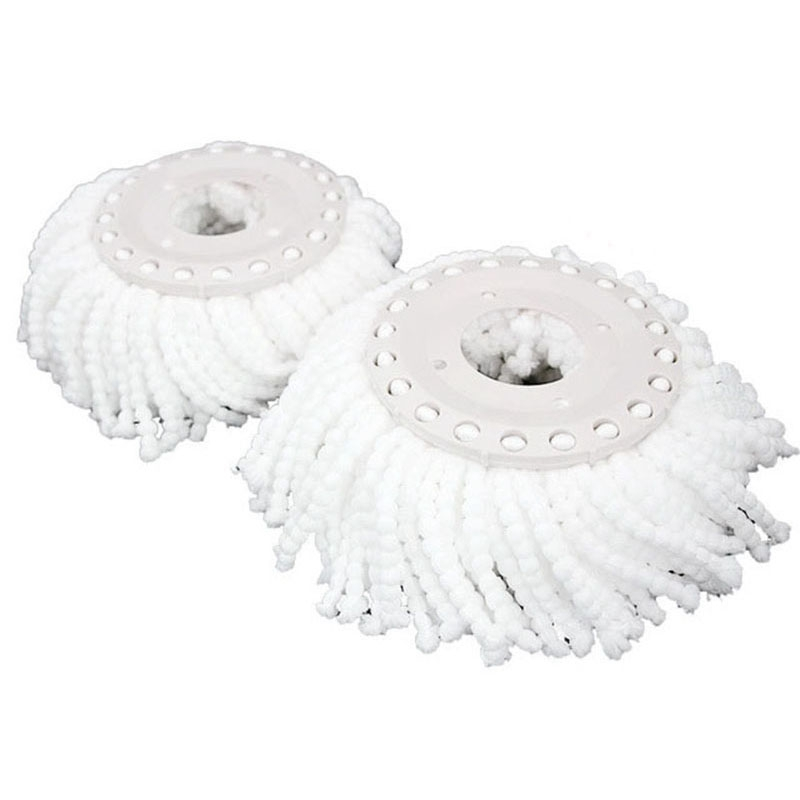 2 Pcs Pack Mop Head Household Microfiber Floor Mop Head Magic Replacement Automatic 360 Spin Cleaning Pad Home Clean Tools|Mops| |  - title=