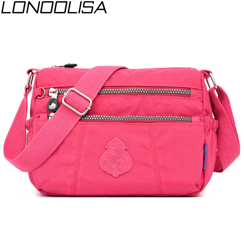 New Waterproof Nylon Ladies Shoulder Bags Light Crossbody Bags For Women 2019 Multi-pocket Daily Travel Shopping Women Bag