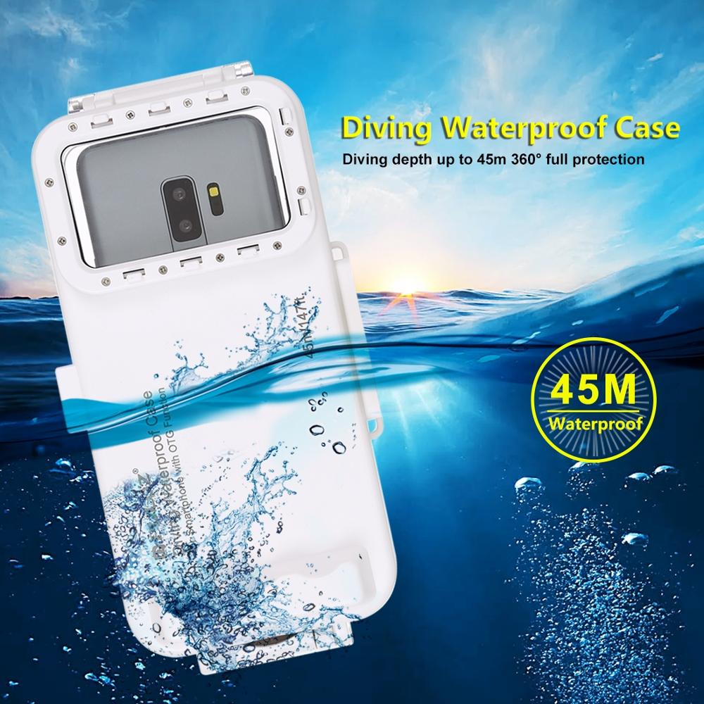 45 m/147ft plongée profonde boîtier étanche Version universelle étui de téléphone portable antichoc 360 ° Protection complète pour Type C OTG