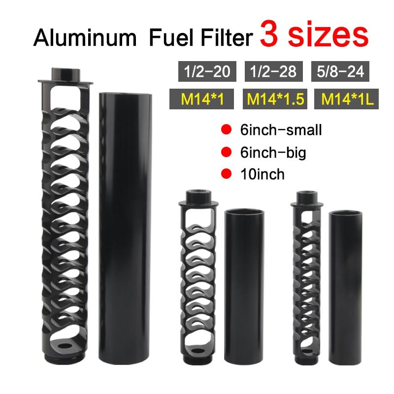 6inch-Small FUEL-FILTER-SOLVENT-TRAP Napa 4003 Single-Core Aluminum 1/2-28 5/8-24 10inch