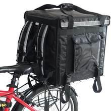 Grande boîte rigide de livraison de nourriture robuste pour moto, sac de livraison de restauration, chargement par le haut, 18