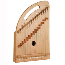Factory Wholesale New Guzheng Finger Trainer 14 String Portable Mini Small Beginners Practice Zheng Solid Bamboo