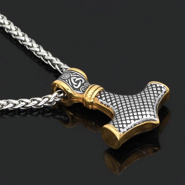 Collier Viking acier inoxydable Thor  3