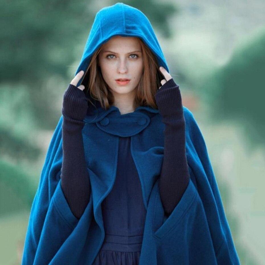 ZOGAA médiévale femmes Outwear irrégulière manteau à capuche manteau mince Vintage gothique Cape Poncho décontracté Maxi Long Cardigan manteaux femmes