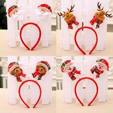Cute Christmas themed Santa headband snowman deer horn Non-woven children's head closure Christmas gift home decoration