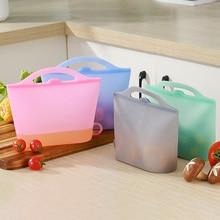 Кухонная Организация хранения, многоразовые контейнеры для хранения продуктов, силиконовые пакеты для хранения продуктов для пищевых овощей