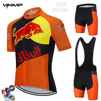 Camisa de ciclismo 2020 pro equipe vermelho verão ciclismo conjunto jérsei respirável corrida esporte mtb bicicleta jerseys dos homens roupas ciclismo 1