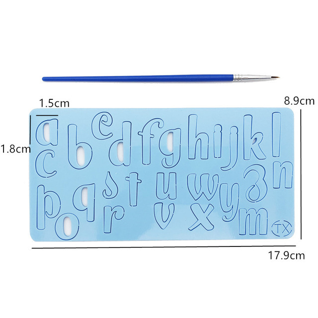 Acrylic Alphabet and Number Embossed Cutter