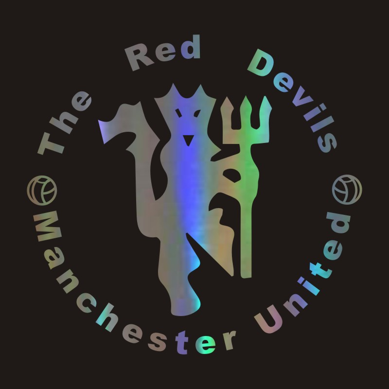 19CMX19CM The Red Devils Man Funny Car Sticker Vinyl Decals Waterproof For Manchester United Window Bumper Laptop