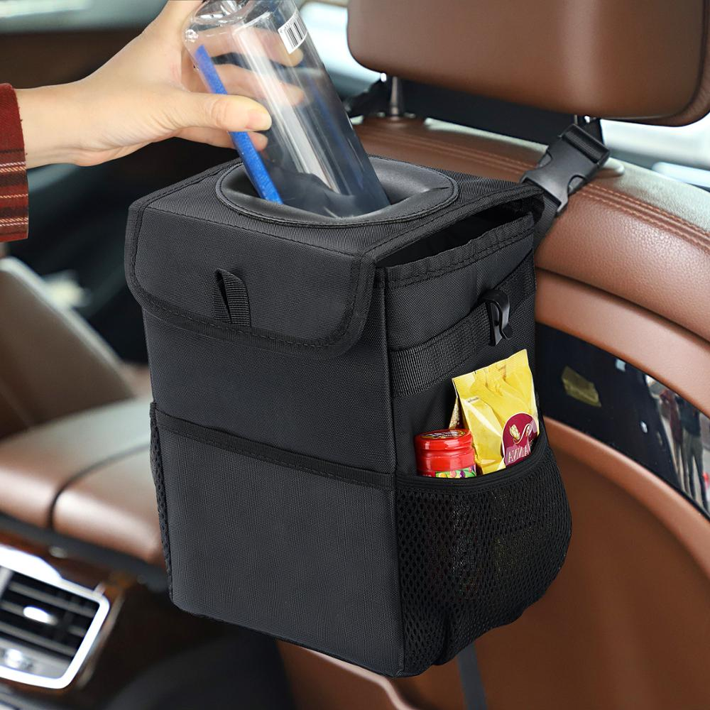 Car Trash Can Creative Folding Storage Box Storage Durability Waterproof Multipurpose Trash Bin Car Garbage Can Easy Clean Wash