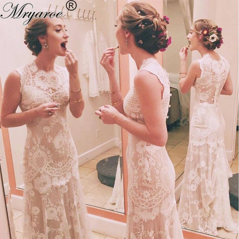 French Lace Mermaid Wedding Dress: Mryarce Unique Design Vintage Exquisite French Lace