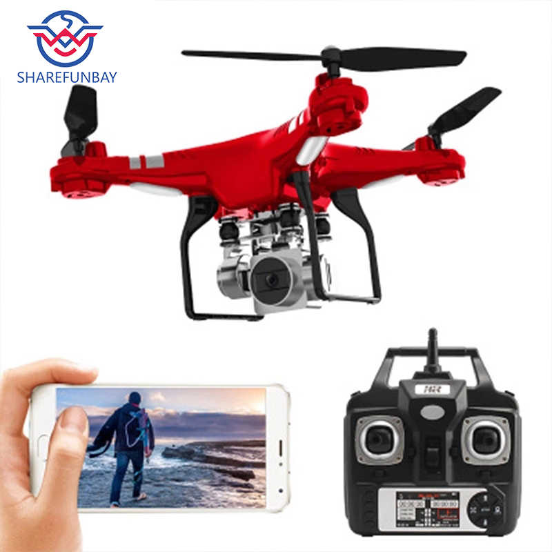 Original SH5 HD drone wide-angle HD 1080p Quadcopter aircraft one-touch landing / takeoff WIFI transmission Rc helicopter