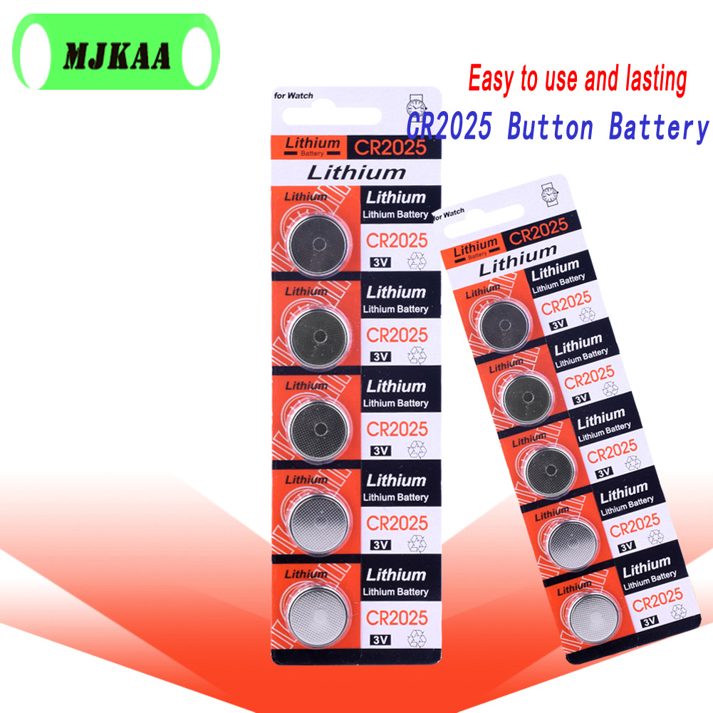 10pcs New <font><b>Cr2025</b></font> 3v Button Cell Coin <font><b>Battery</b></font> DL2025 for Watch Computer image
