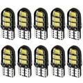 10 шт., Автомобильные светодиодные лампы T10 W5W, 6 SMD