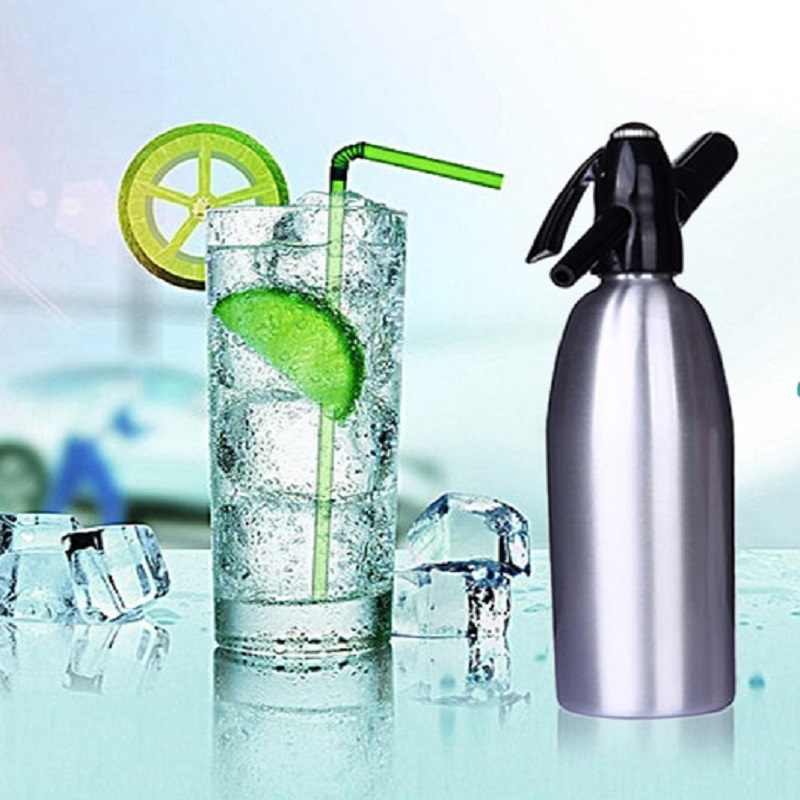 Soda Maker Machine 1L Home Drink Juice Machine Bar Beer Soda Maker Steel Bottle