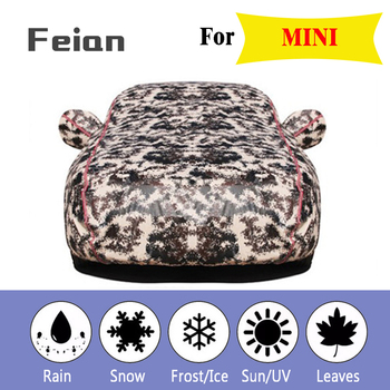 car cover Oxford cloth waterproof Car clothes With side door Four seasons Reflective strips Hatchback sedan SUV for MINI
