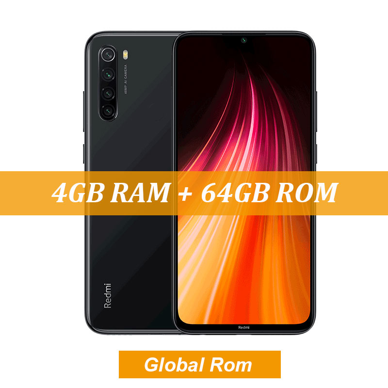 "New Global ROM Xiaomi Redmi Note 8 4GB 64GB 48MP Quad Camera Smartphone Snapdragon 665 Octa Core 6.3"" FHD Screen 4000mAh - Цвет: 4GB Gray"