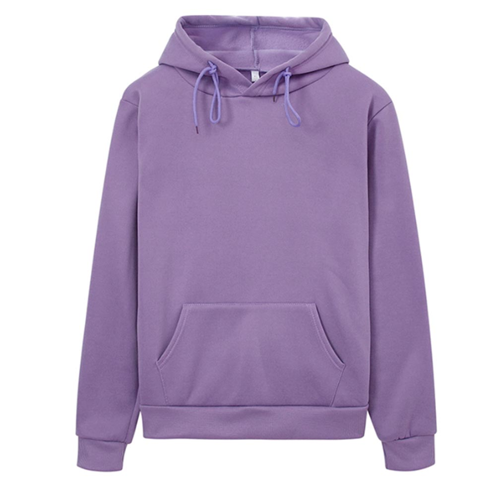 Hoodies Women Sweatshirt Casual Solid Colors Velvet Thickening Warm Tops 2020 Winter Long Sleeve Oversized Pullover With Pocket 5