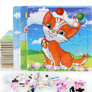 Puzzles Montessori-Toys Cognition Educational-Toy Baby Toys Gifts Animals Small-Pieces