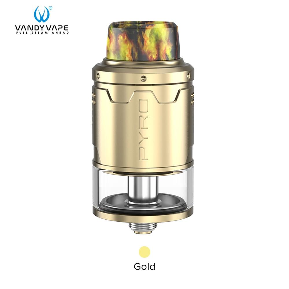 Vandy vape Пиро V3 RDTA майка с 5 шт./упак. для детей возрастом от 4 мл/2 мл Ёмкость 0.33ohm Совместимость Vandyvape коробка мод электронная сигарета - Цвет: Gold
