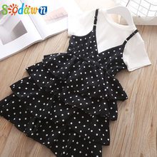 Sodawn Children Clothing New Spring Autumn Lace Flower Embroidered Sleeve Princess Dress Girl Clothes Fashion Baby Girls Dress(China)