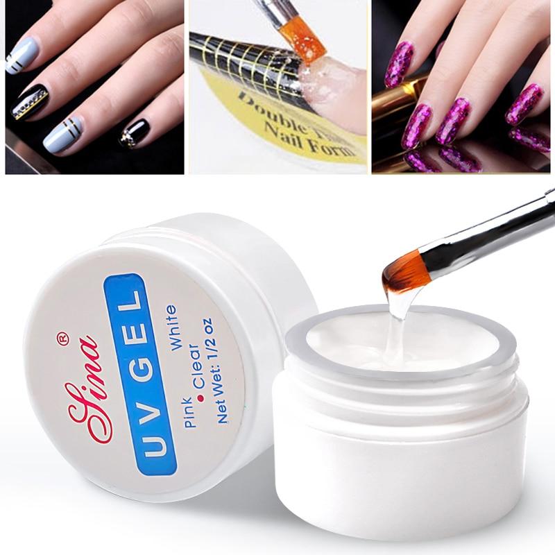 Клей УФ для наращивания ногтей, практичный незаменимый УФ гель для маникюра, фототерапия, инструменты для маникюра Гель для ногтей      АлиЭкспресс