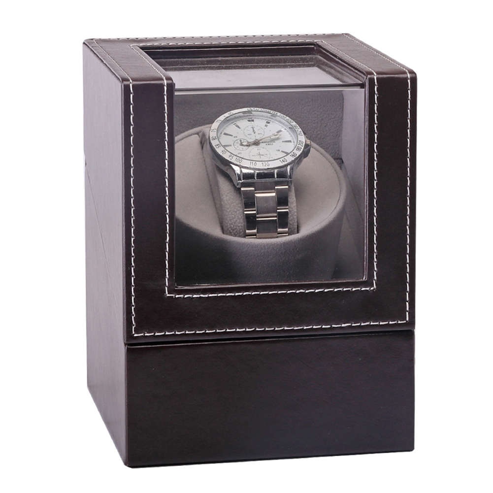 Jewelry Rotation Case Automatic Mechanical Transparent Cover Watch Winder Motor Shaker Collection Luxury Display Box Wristwatch