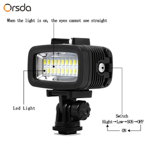 Image 4 - Orsda Gopro Accessories LED 40m Underwater Waterproof Lamp Gopro Light Led Video Flash Fill Light for SJCAM Xiaomi 700LM SL 100