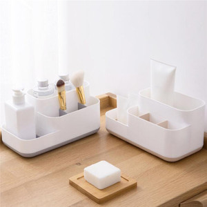 Multifunctional Storage Box Bathroom Skin Care Products Desktop Compartment Storage Box Simple Desk Storage Box