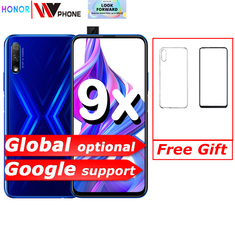 Honor 9x 9x pro Smart Phone Kirin 810 Octa Core 6.59 inch Lifting Full Screen 48MP Dual Cameras 4000mAh GPU Turbo Mobile Phone