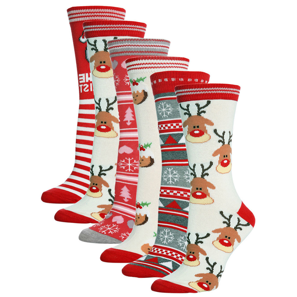 Unisex christmas socks Casual Cute Cartoon Thickness Stockings Sleeping Socks funny Multi-style pom pom socks crazy warm