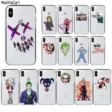 Maiyaca Harley Quinn Suicide Squad Joker Wink Transparan TPU Ponsel Case untuk Apple iPhone 11 Pro 8 7 66S PLUS X XS Max 5S SE XR(China)